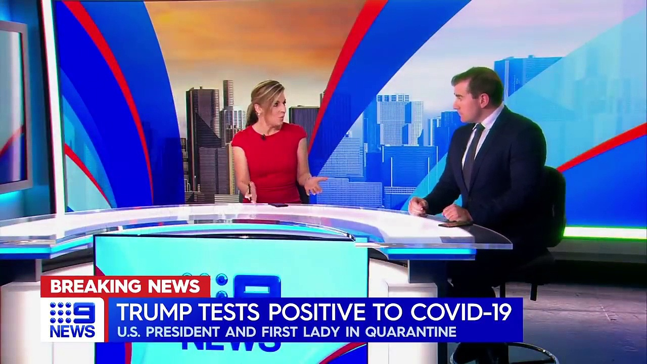 Donald Trump, Melania test positive for COVID-19 _ 9 News Australia
