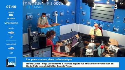La matinale de France Bleu Occitanie du 06/10/2020
