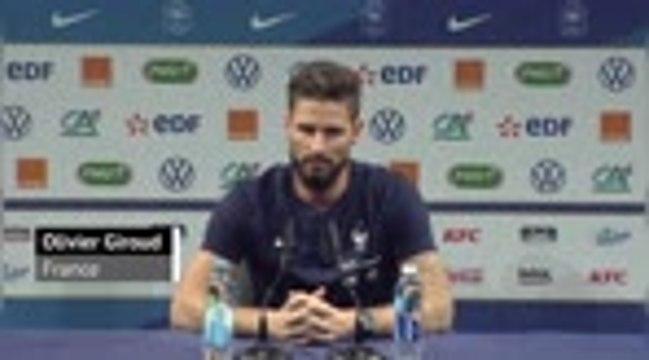 "Bleus - Giroud : ""Immense fierté d'atteindre 100 sélections"""