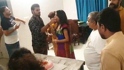 गोल्डन गर्ल सोनालिका प्रसाद ने फ़िल्म के सेट पर मनाया अपना जन्मदिन