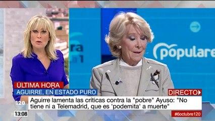 Telemadrid contesta en '120 minutos' a los ataques de Esperanza Aguirre