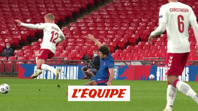 La blessure de Dolberg et le carton rouge de Maguire - Foot - Ligue des nations - ANG - DAN