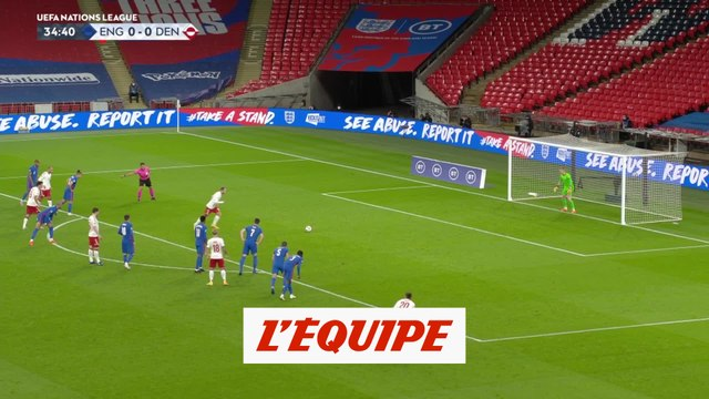 Le but d'Angleterre - Danemark - Foot - Ligue des nations