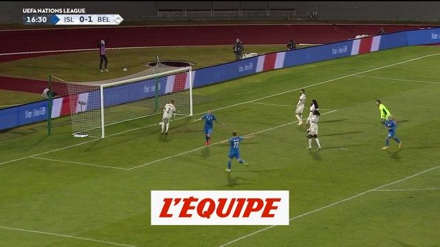 Les buts d'Islande - Belgique - Foot - Ligue des nations
