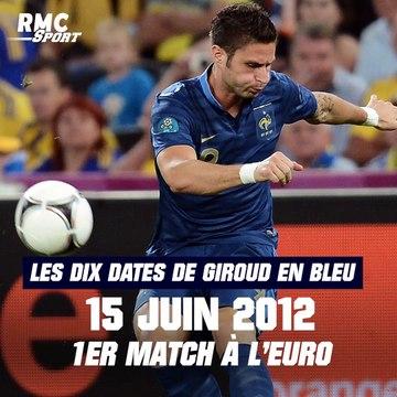 Equipe de France : Giroud bientôt centenaire, les dix dates de sa carrière en Bleu