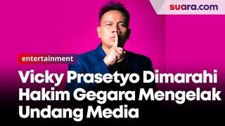 Bantah Ngundang Media Saat Penggerebekan, Vicky Prasetyo Dimarahi Hakim