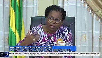 Primature : Les orientation de la Première ministre, Victoire Tomégah-Dogbé au personnel