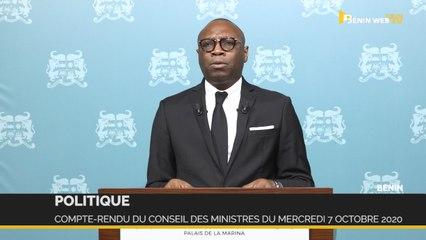 Bénin : compte-rendu du conseil des ministres du mercredi 7 octobre 2020