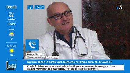 """INVITE - Dr Jérôme Marty, pour son livre """"Le scandale des soignants contaminés"""""""