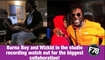 F78NEWS: Burna Boy and Wizkid in the studiorecording watch out for the biggest collaboration!