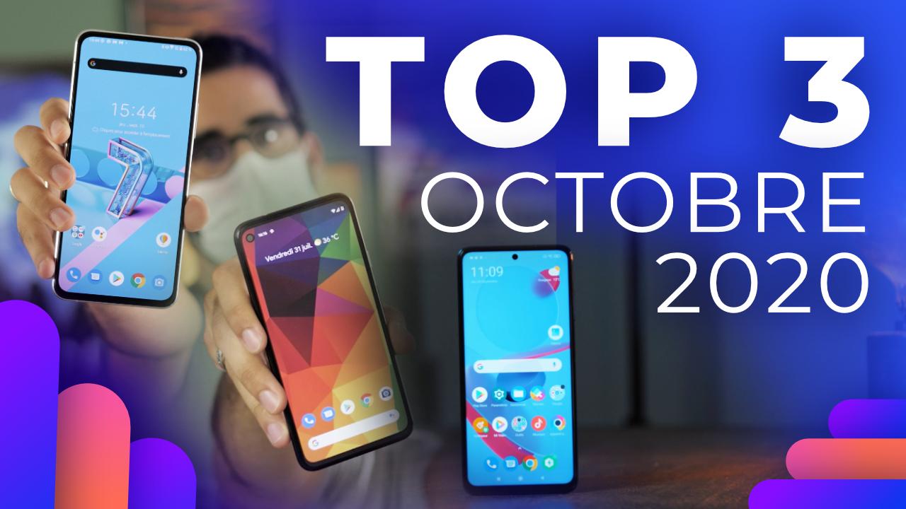 Les 3 MEILLEURS smartphones sur Frandroid ! (Octobre 2020)