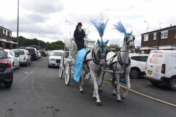 The funeral of 18-year-old Kyle Croston, from Platt Bridge
