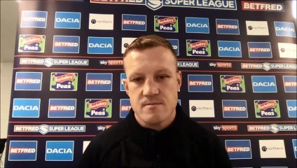 Huddersfield Giants' Luke Robinson after 24-16 loss to Salford Red Devils