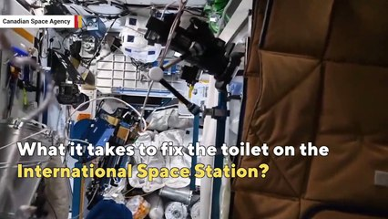 What's it like to fix a toilet in space?
