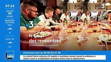 La matinale de France Bleu Creuse du 09/10/2020