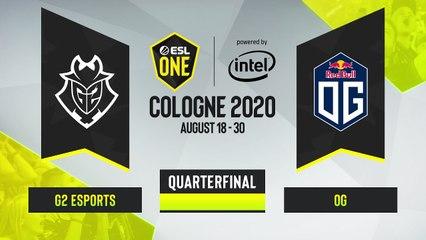 CSGO - G2 Esports vs. OG [Train] Map 2 - ESL One Cologne 2020 - Quarterfinal - EU