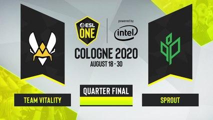 CSGO - Sprout vs. Team Vitality [Mirage] Map 2 - ESL One Cologne 2020 - Quarterfinal - EU