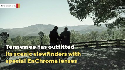 Tennessee has special viewfinders so colorblind can enjoy fall colors