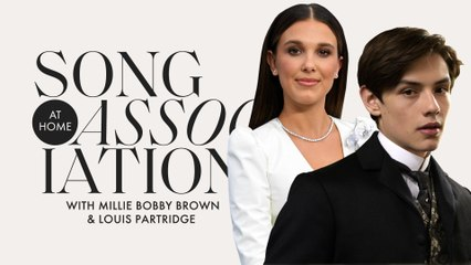 Millie Bobby Brown & Louis Partridge Sing Dua Lipa and Destiny's Child in a Game of Song Association | ELLE