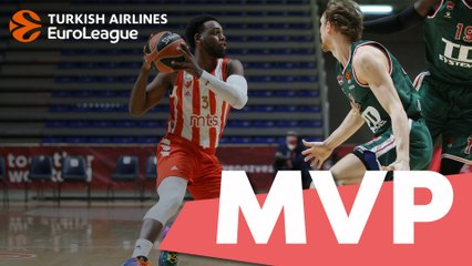 Round 2 MVP: Jordan Loyd, Crvena Zvezda mts Belgrade