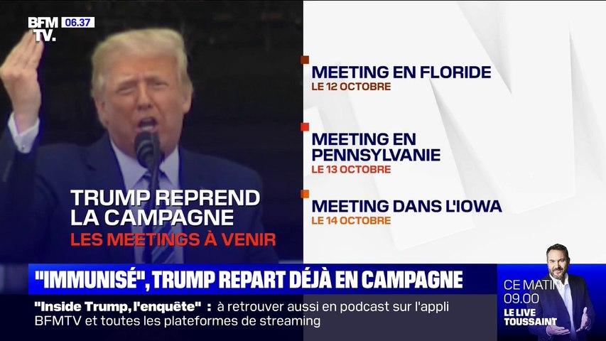 Donald Trump, qui assure être immunisé au Covid-19, repart déjà en campagne