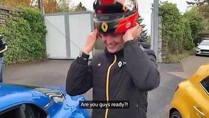Esteban Ocon en Alpine A110 sur la boucle nord du Nürburgring