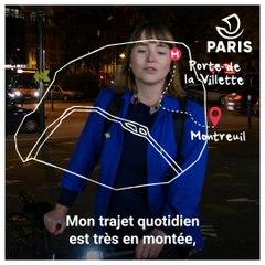 Portraits de cyclistes parisien.ne.s à vélo : Louise