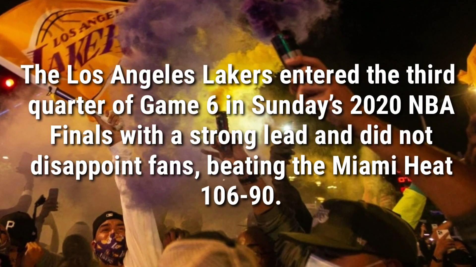Lakers champion for kobe – Watch Lakers fans Celebrate NBA Finals in Street Chanting -Kobe-