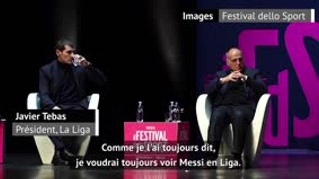 """Barcelone - Tebas: """"Un départ de Messi n'aurait pas été une bonne idée"""""""