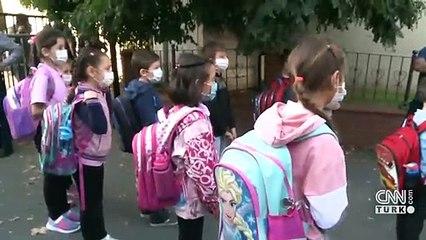 Yüz yüze eğitimde ikinci aşama: İlkokul, 8. ve 12. Sınıflar eğitime başladı | Video