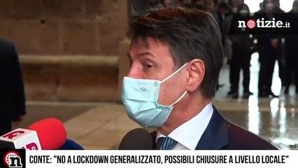 """Conte: """"Pronto nuovo dpcm, no a lockdown generalizzato ma possibili chiusure a livello locale"""""""