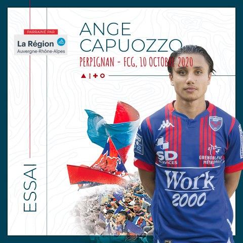 Video : Video - L'essai d'Ange Capuozzo à Perpignan, saison 2020-2021