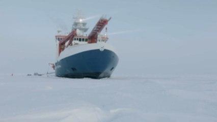 """سفينة الأبحاث الألمانية """"بولارشتيرن""""  تبحر في رحلة استكشافية تاريخية نحو المنطقة القطبية الشمالية"""