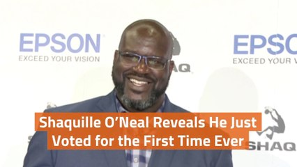 Shaquille O'Neal Goes To The Polls