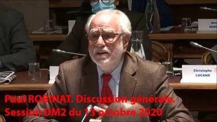 Paul ROBINAT. Discussion générale. Session DM2 du 13 octobre 2020