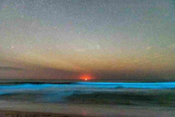 See Rare Photos of Glowing Blue Waves Crashing off Cape Hatteras
