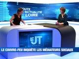 A la Une : Saint-Etienne Métropole, zone la plus touchée de France / Les médiateurs sociaux s'inquiètent d'un couvre-feu / Augmentation des demandes de vaccins contre la grippe - Le JT - TL7, Télévision loire 7