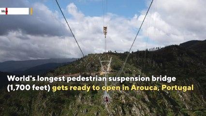 World's longest pedestrian suspension bridge opening in Portugal