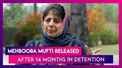 Mehbooba Mufti Released After 14 Months In Detention, Says 'Will Take Back What Delhi Snatched'