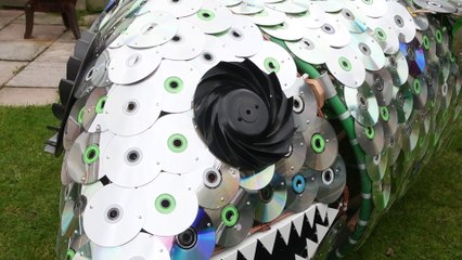 Blackpool man builds giant fish out of recycled parts during lockdown
