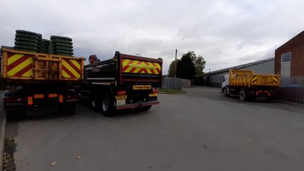 Suspected arson at Stockton on Tees Borough Council depot
