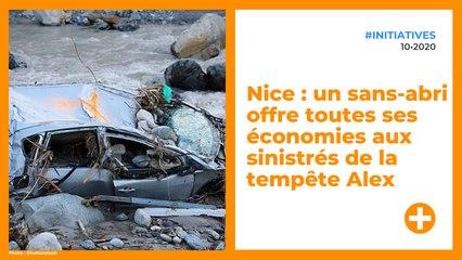 Nice : un sans-abri offre toutes ses économies aux sinistrés de la tempête Alex