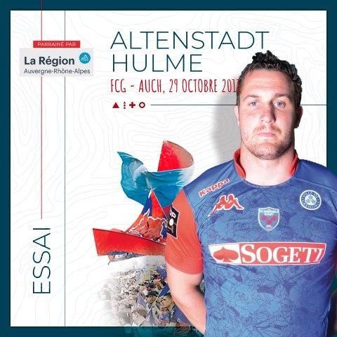 Video : Video - L'essai d'Alten Hulme contre Auch (saison 2011-2012)