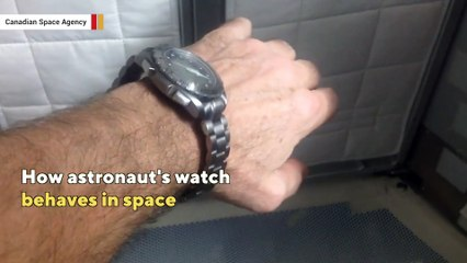 How astronaut's watch behaves in space