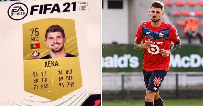 Le Lillois Xeka craque en découvrant sa carte sur FIFA 21