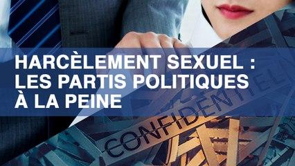 Harcèlement sexuel : les partis politiques à la peine
