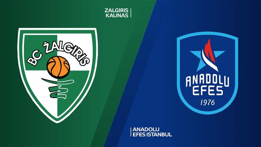 Zalgiris Kaunas - Anadolu Efes Istanbul Highlights | Turkish Airlines EuroLeague, RS Round 4