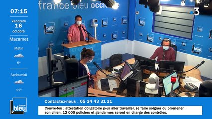 La matinale de France Bleu Occitanie du 16/10/2020