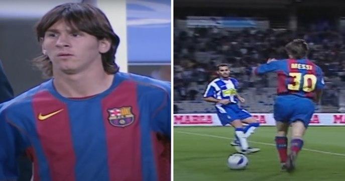 Le premier match de Lionel Messi avec le FC Barcelone (16 octobre 2004)