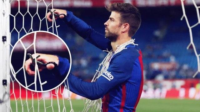 Mais pourquoi Piqué découpe-t-il les filets après certains matches ? | Oh My Goal